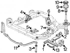 Ls400 Front Suspension Diagram