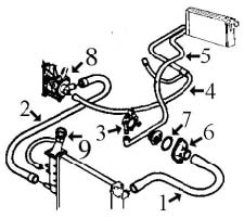 circuit de refroidissement 106 moteur 1 4 tu3m alpazo pi ces d tach es automobile. Black Bedroom Furniture Sets. Home Design Ideas