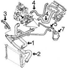 circuit de refroidissement megane i 1 9 diesel dti dci moteur f9q depuis 98 alpazo pi ces. Black Bedroom Furniture Sets. Home Design Ideas